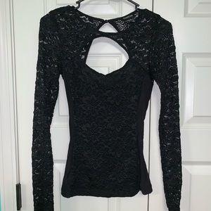 Bebe lace shirt